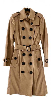 Burberry Beige Cashmere Trench coats
