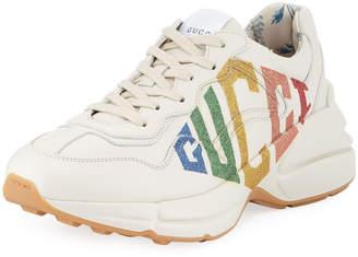Gucci Rhyton Rainbow Leather Trainer