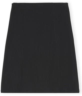 Ganni Rayon Slip Skirt in Black