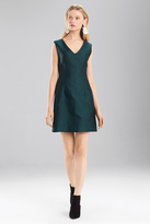 Josie Natori Pebble Jacquard Sleeveless Dress