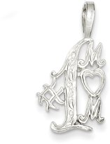 West Coast Jewelry Sterling Silver Mom Charm
