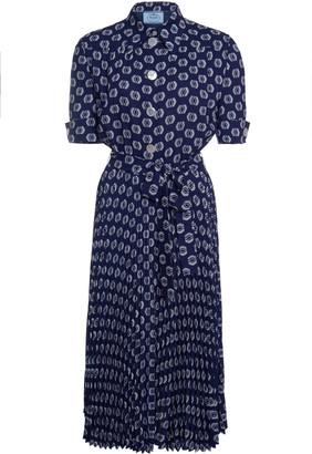 Prada Printed Short Sleeved Dress
