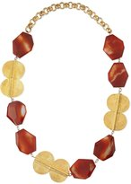 Devon Leigh Carnelian Gold-Plated Medallion Necklace
