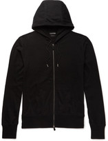 Tom Ford Cotton, Silk And Cashmere-blend Jersey Hoodie - Black