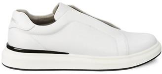 Karl Lagerfeld Paris Slip-On Leather Sneakers