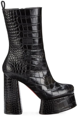Christian Louboutin Izamayeah 130 Platform Leather Booties