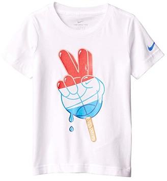 Nike Kids Short Sleeve Americana Peace Popsicle Graphic T-Shirt (Little Kids) (White) Boy's Clothing