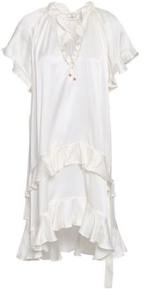 Zimmermann Flutter Tiered Washed-silk Mini Dress