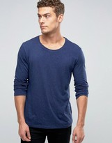 Benetton Long Sleeve Top with Coloured Fleck