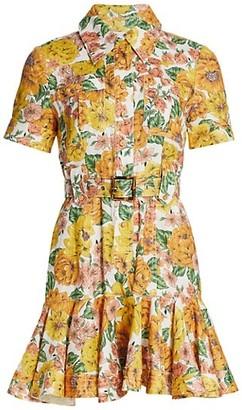 Zimmermann Poppy Belted Mini Dress