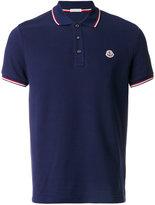 Moncler logo plaque polo shirt - men - Cotton - M