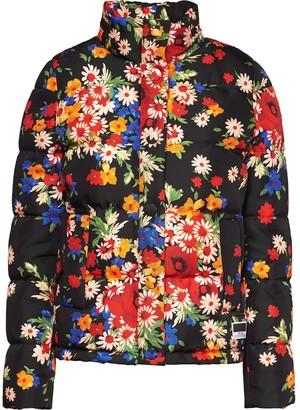 Miu Miu floral print Panama puffer jacket