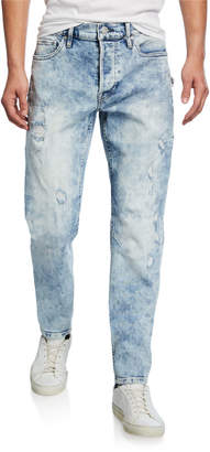 Hudson Men's Sartor Acid-Wash Distressed Jeans