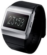 o.d.m. Unisex MDD99B-1 Mr. Metallic Series Black and Silver Programmable Digital Watch