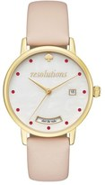 Kate Spade Metro Resolution Leather Band Watch, 34mm