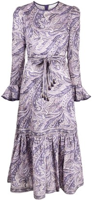 Zimmermann Brighton paisley-print mid-length dress