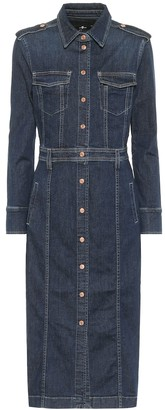 7 For All Mankind Luxe stretch-denim midi dress