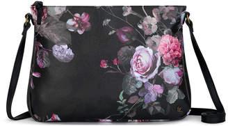 Elliott Lucca Women's Handbags BLACK - Black Rose Floral Mari Crossbody Bag