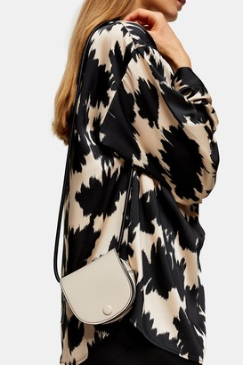 Topshop FRENCHIE White Saddle Pouch Bag