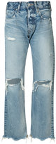 Moussy distressed high-rise jeans - women - Cotton - 24