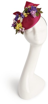 Rachel Trevor-morgan Silk Floral Pillbox Hat
