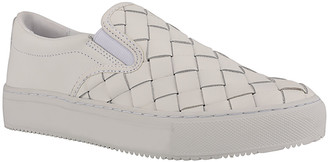 Marc Fisher Calla Woven Leather Slip-On Sneakers