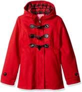 Pink Platinum Big Girls' Toggle Wool Jacket