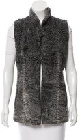 Vera Wang Persian Fur Open Front Vest