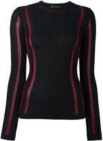 Versace zig-zag stitch jumper