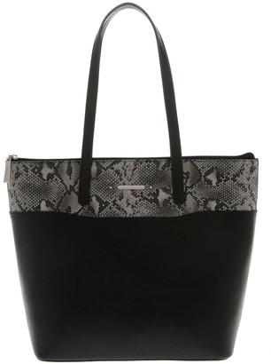 Basque Julie Black Double-Handle Tote Bag