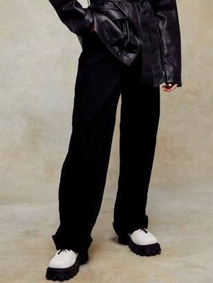 Topshop Oversized Mom Jeans- Black