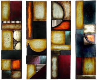 "3.1 Phillip Lim Brimfield & May Metal Wall Plaque, , 8"", , 4-Piece Set"