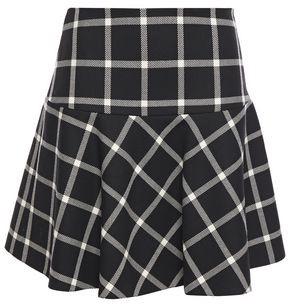 RED Valentino Checked Wool Mini Skirt