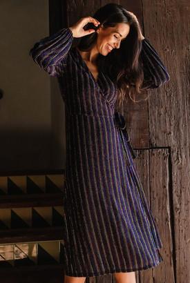 Sugarhill - Rainbow Stripe Sara Wrap Dress - 16