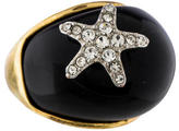 Kenneth Jay Lane Crystal Starfish Ring