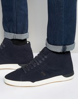 Boss Orange By Hugo Boss Suede High Top Trainers