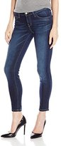 Flying Monkey Women's Classic 5 Pocket Clean Cropped Skinny Jeans In