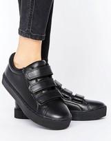 Monki Minimal Triple Strap Sneakers