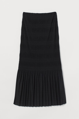 H&M Pleated jersey skirt