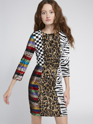 Alice + Olivia Jae Animal Print Mini Dress