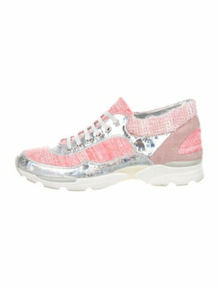 Chanel Colorblock Pattern Sneakers Pink