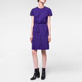 Paul Smith Women's Indigo Taffeta Elastic-Waist Dress