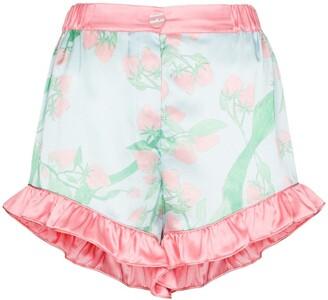 Helmstedt Strawberry Print Silk Pajama Shorts