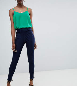 New Look Bianca Side Button Jeans-Blue