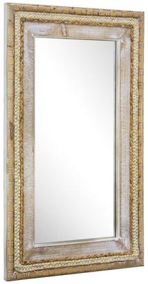 "American Art Decor Woven Rattan Mirror 39"" x 24"", Brown"