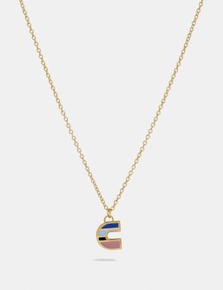 Coach 80'S Retro Alphabet C Charm Necklace
