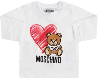 Moschino White Babygirl T-shirt With Teddy Bear