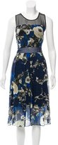 Timo Weiland Floral Print Silk Dress
