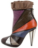 Rodarte Embossed Leather Ankle Boots w/ Tags