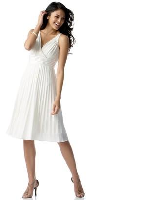 Maggy London Women's Denim Knit Sleeveless Dress